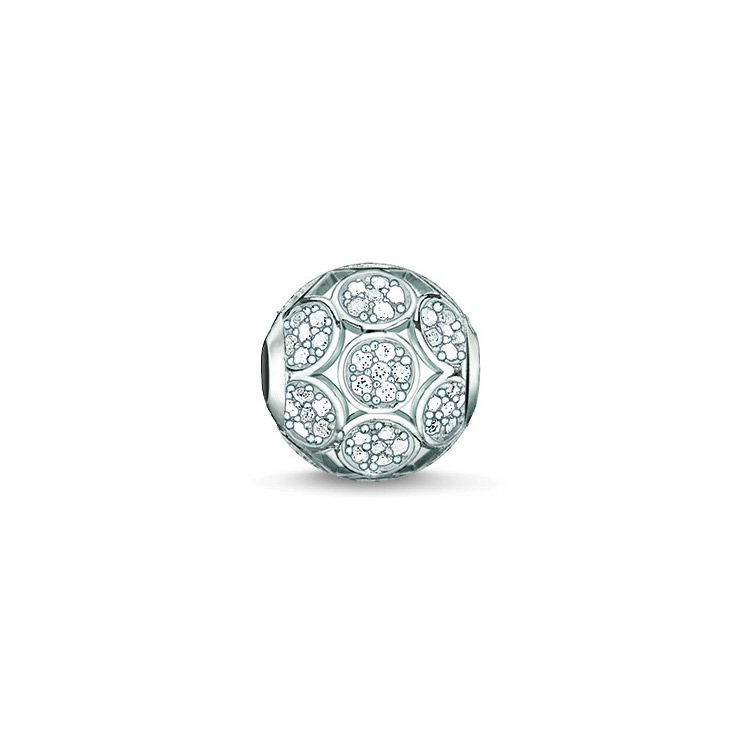 : - Karma Beads Gnistrande Cirklar Silver