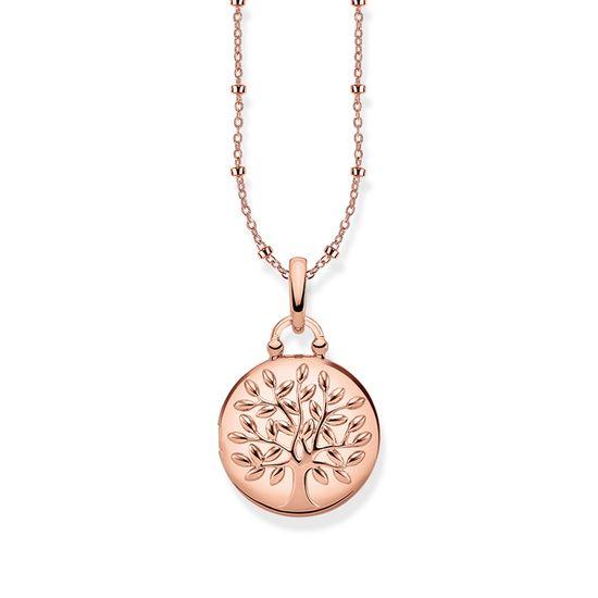 : - Halsband Medaljong Rund Rosé Tree of Love