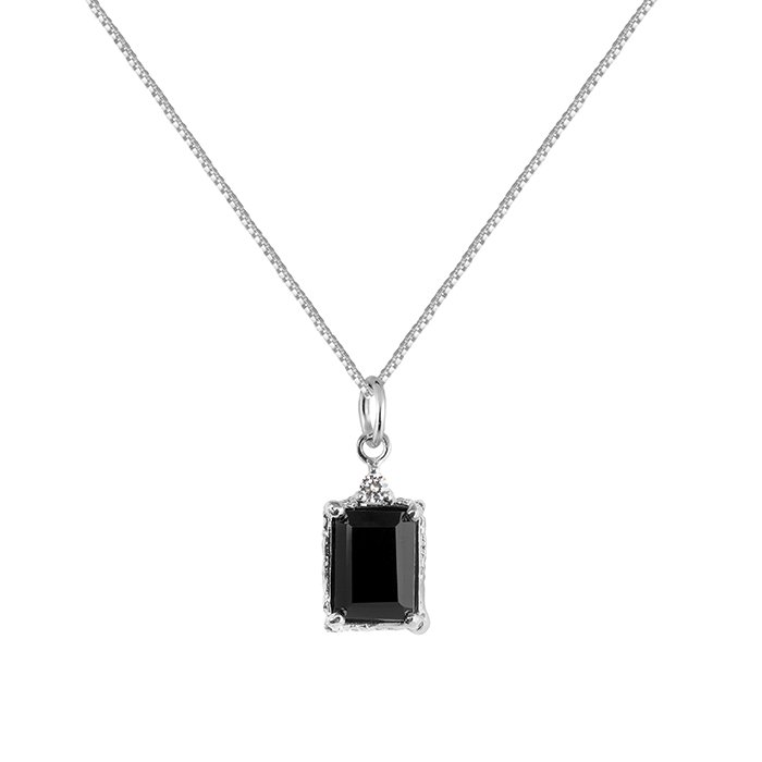 : - Lady Spinel Necklace Silver