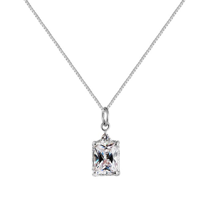 : - Lady Sparkle Necklace Silver