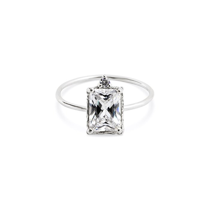 : - Lady Sparkle Ring Silver