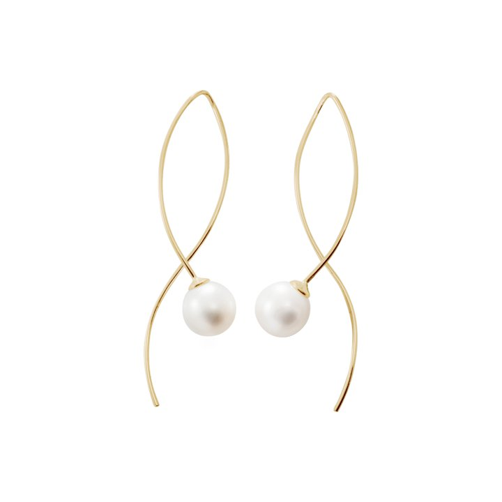 : - Le pearl earrings gold