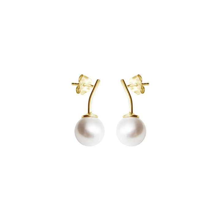 : - Le pearl studs gold