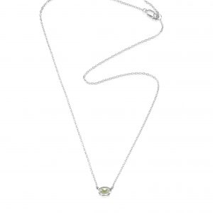 Efva Attling Love Bead Necklace Silver - Green Quartz