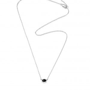 Efva Attling Love Bead Necklace Silver - Onyx