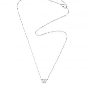 Efva Attling Love Bead Necklace Silver - Rose Quartz