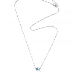 Efva Attling Love Bead Necklace Silver - Topaz