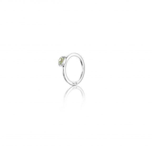 Efva Attling Love Bead Ring Silver - Green Quartz