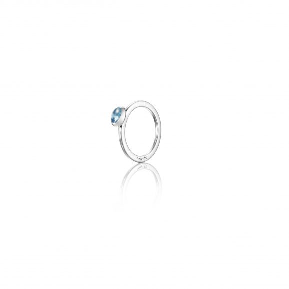 Efva Attling Love Bead Ring Silver - Topaz