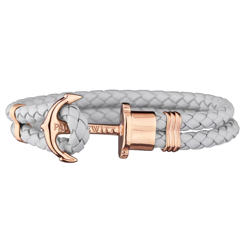 Paul Hewitt Leather Phrep armband Rosé Grå