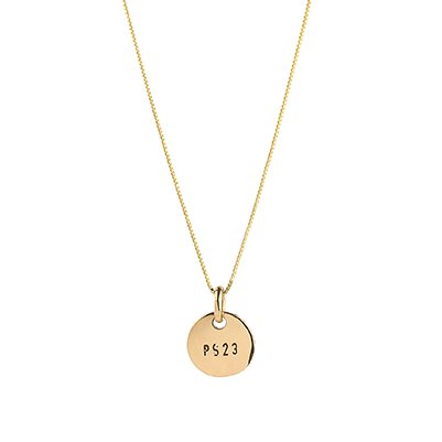 : - PS23 Golden Bronze Small Coin Necklace