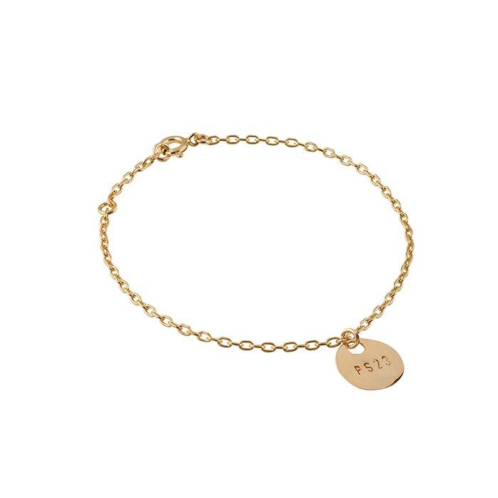 : - Golden Bronze Coin Bracelet