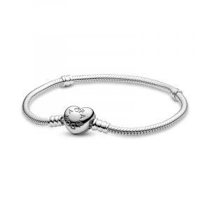 PANDORA armband med hjärtlås - snabb frakt på Jewelrybox.se