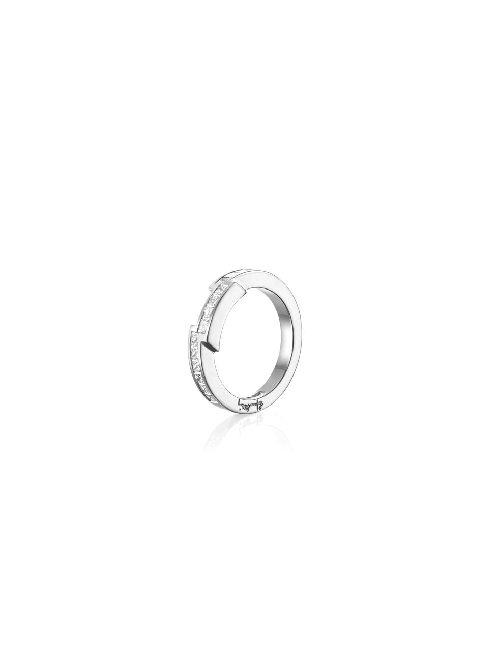 : - Rock Queen Ring Vitguld