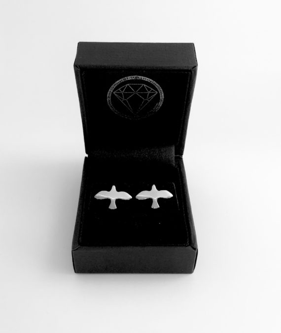 : - Silver Dove Pin Earrings