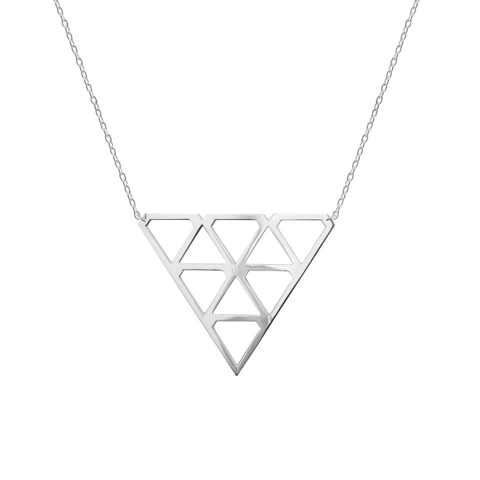 : - Super Diamond Necklace M Silver