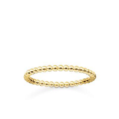 : - kulring guld