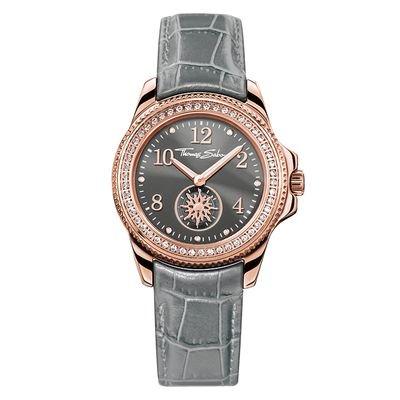: - Glam chic grå klocka