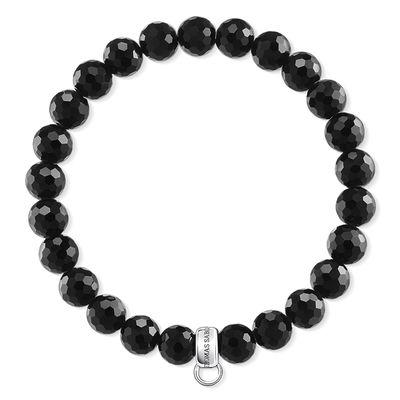 : - Charm club armband obsidian