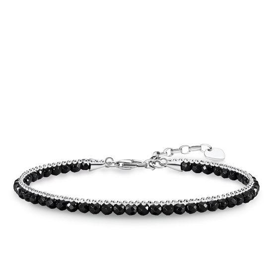 : - Dubbelarmband Silver Onyx
