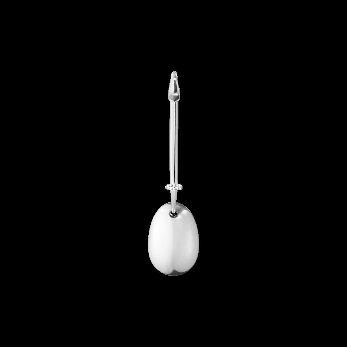 : - Dew Drop Hängsmycke-Silver Diamanter