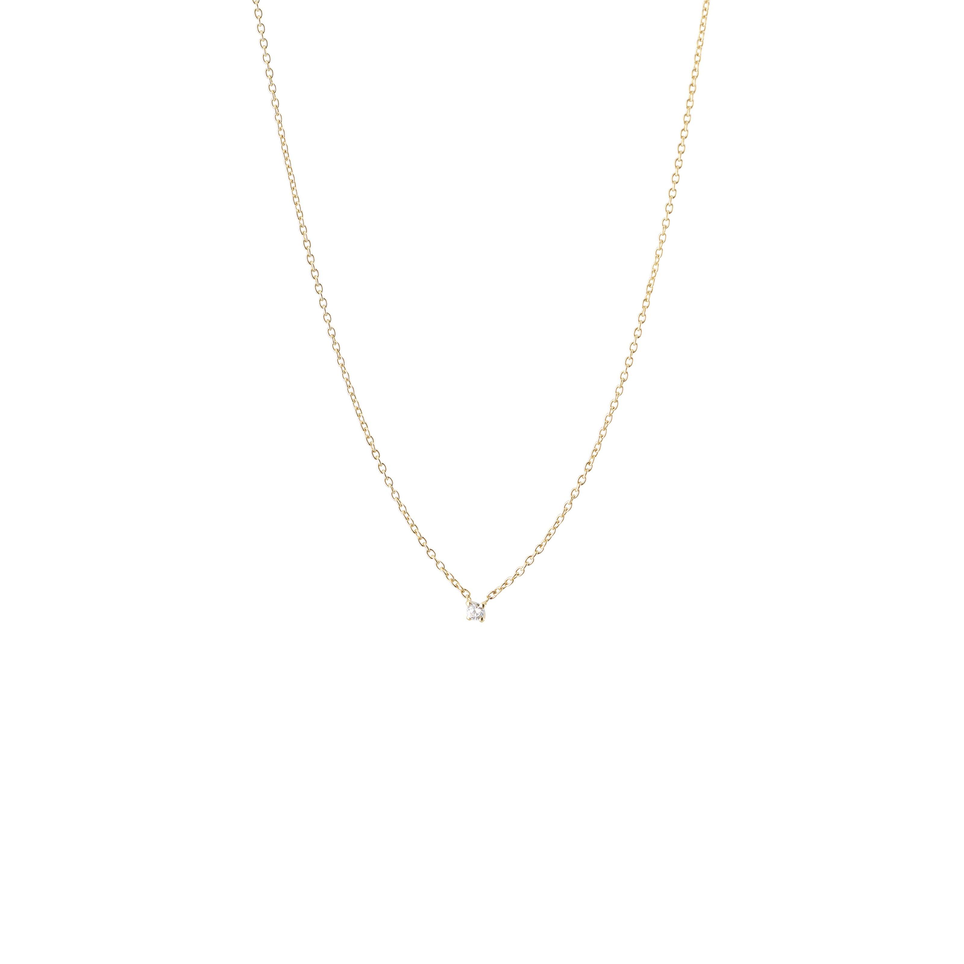 : - Diamond sky drop necklace gold