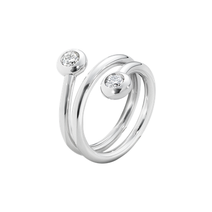 Georg Jensen Aurora Ring Vitguld 0,30 ct Diamanter