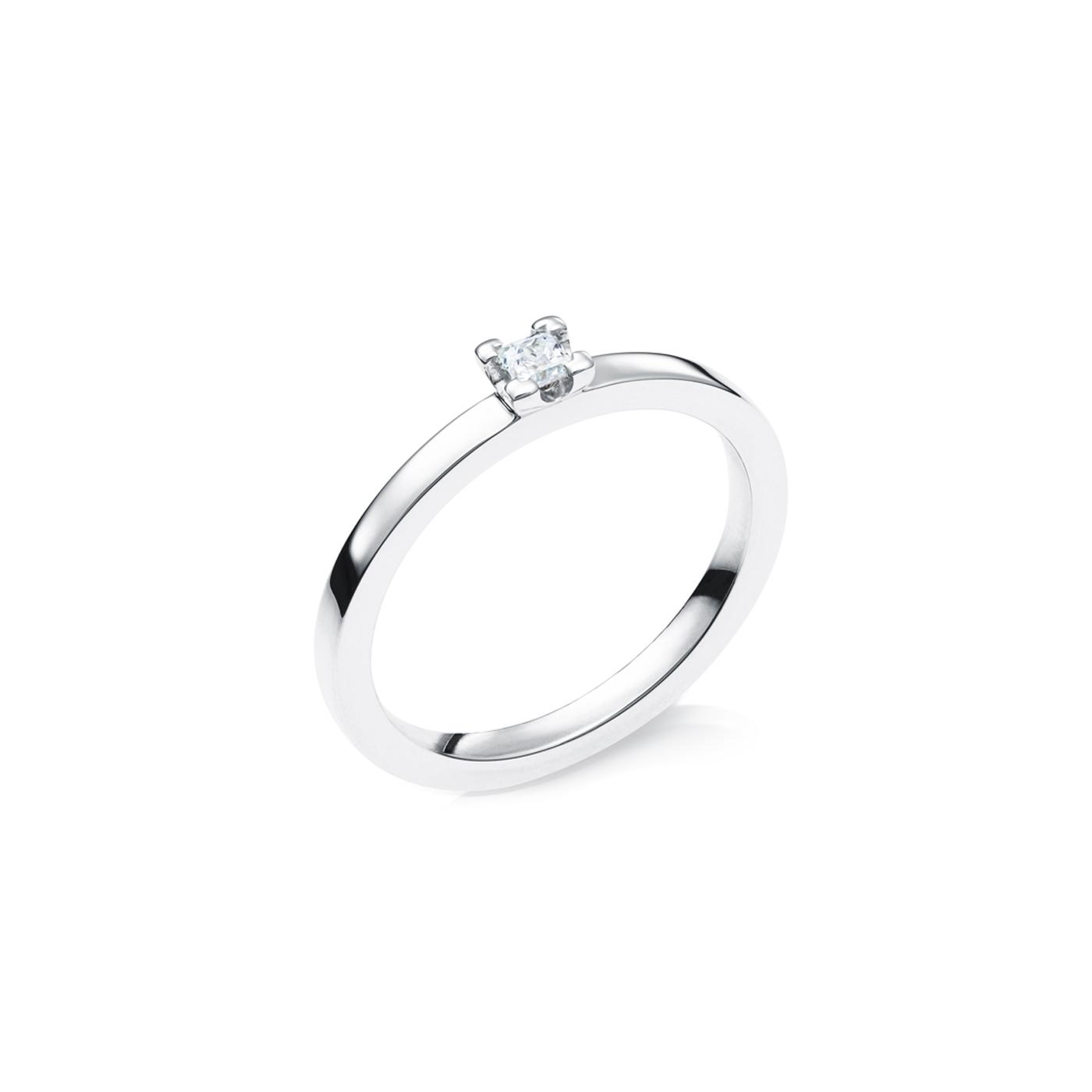 Vigselring 18k Vitguld Elbe 0,10 ct Diamant