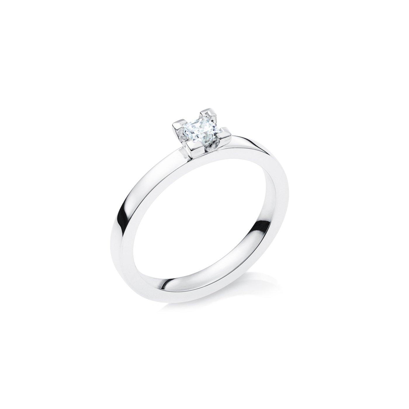 Vigselring 18k Vitguld Elbe 0,30 ct Diamant