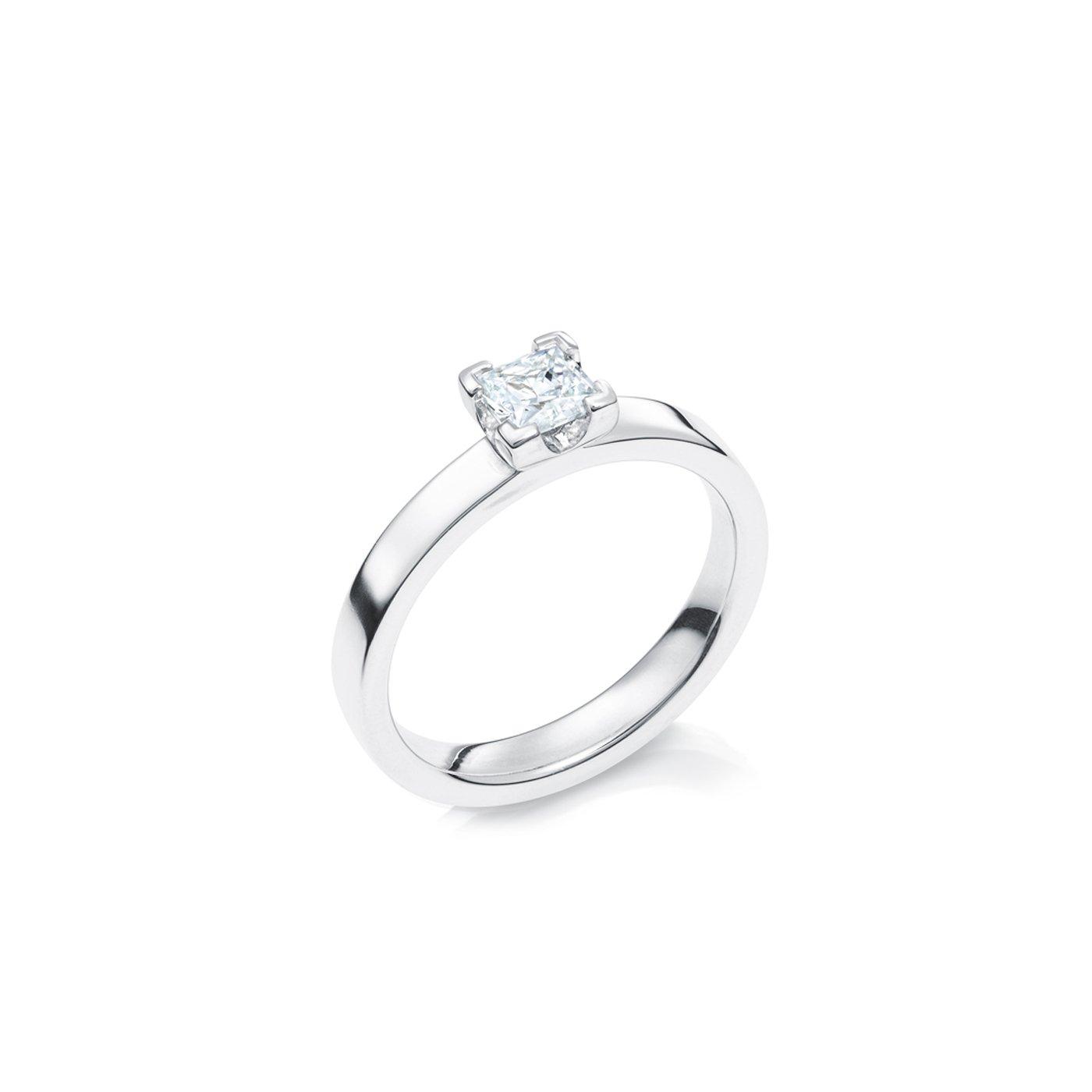 Vigselring 18k Vitguld Elbe 0,50 ct Diamant