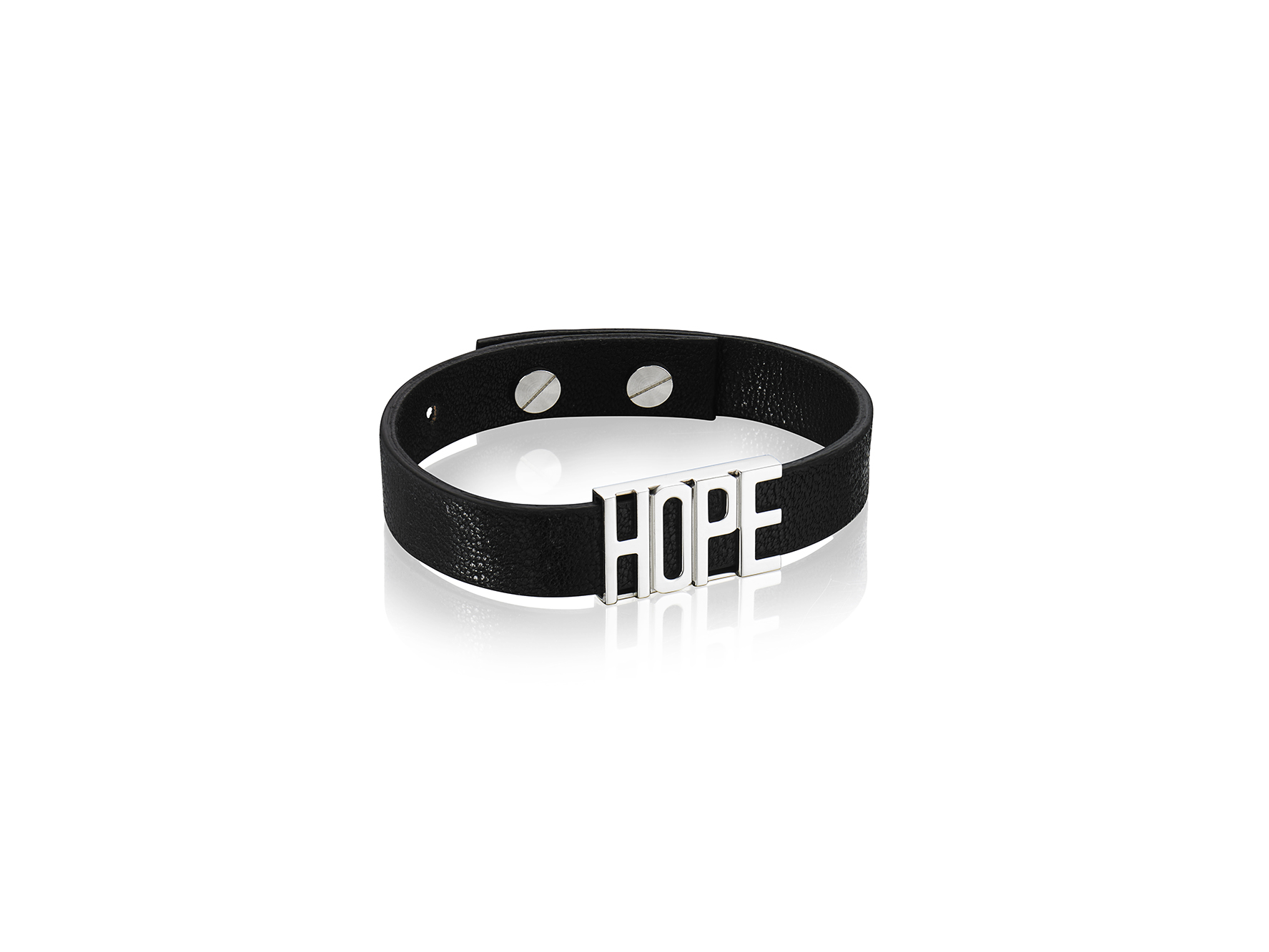 : - Hope leather bracelet