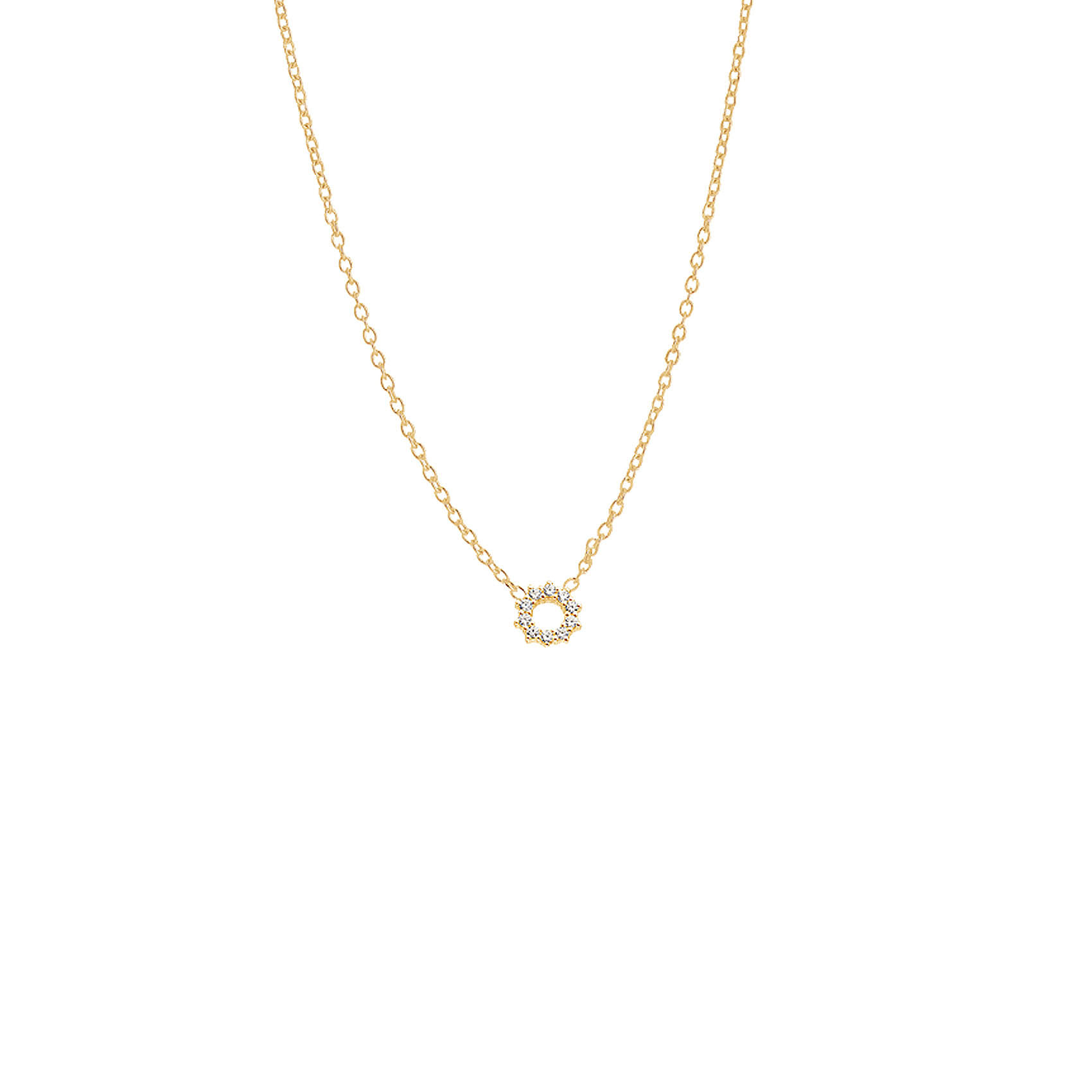 : - Infinity Drop Necklace Gold