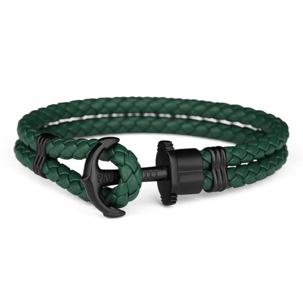 Paul Hewitt Leather Phrep Armband Svart/Grön