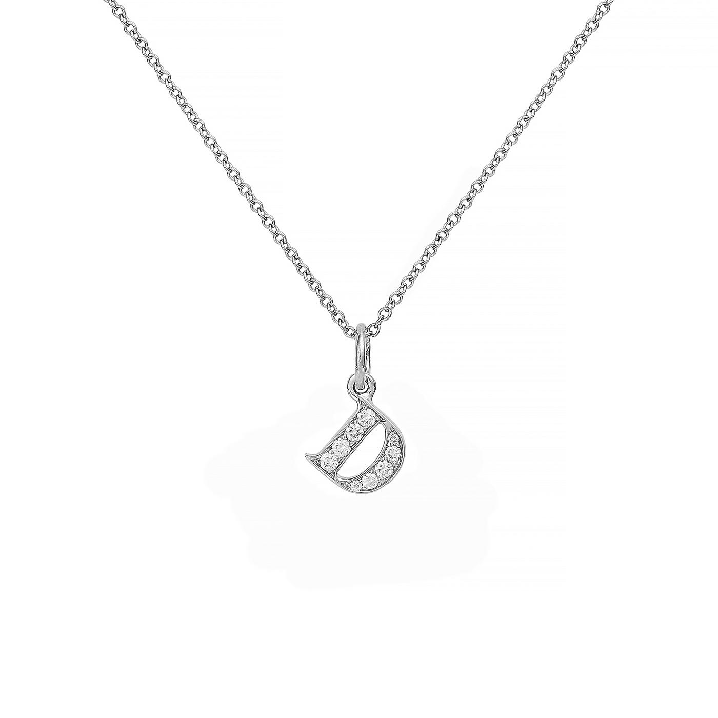 : - Love Letter 18 K vitguld & Diamanter – D