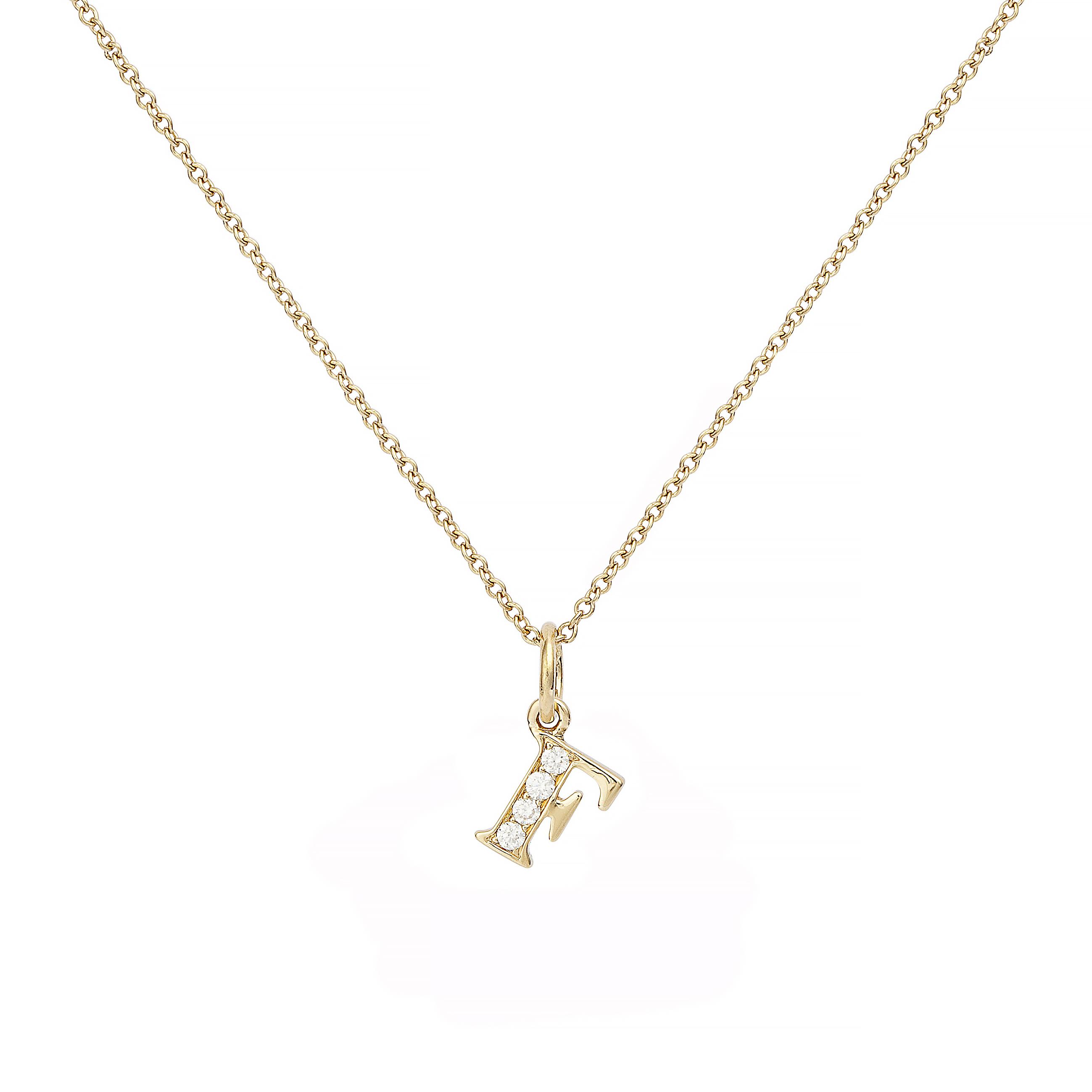 : - Love Letter 18 K guld & Diamanter – F