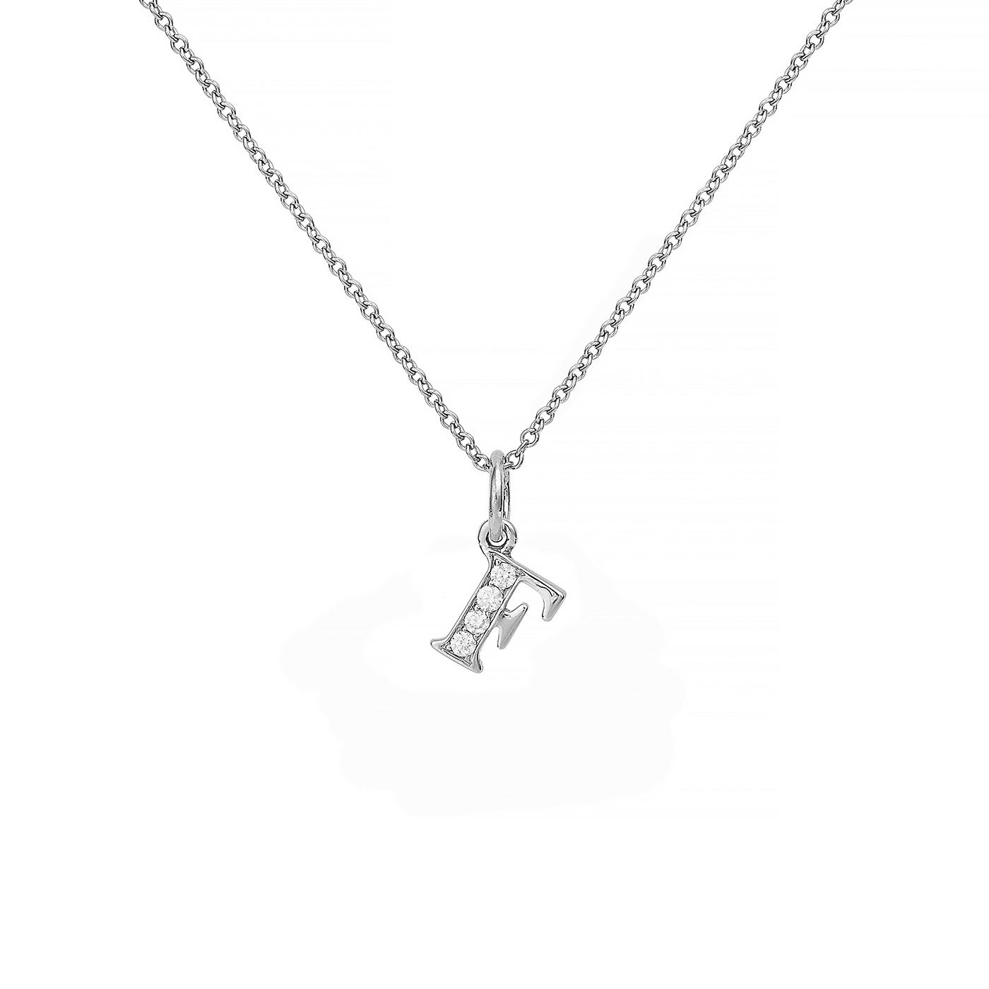 : - Love Letter 18 K vitguld & Diamanter – F