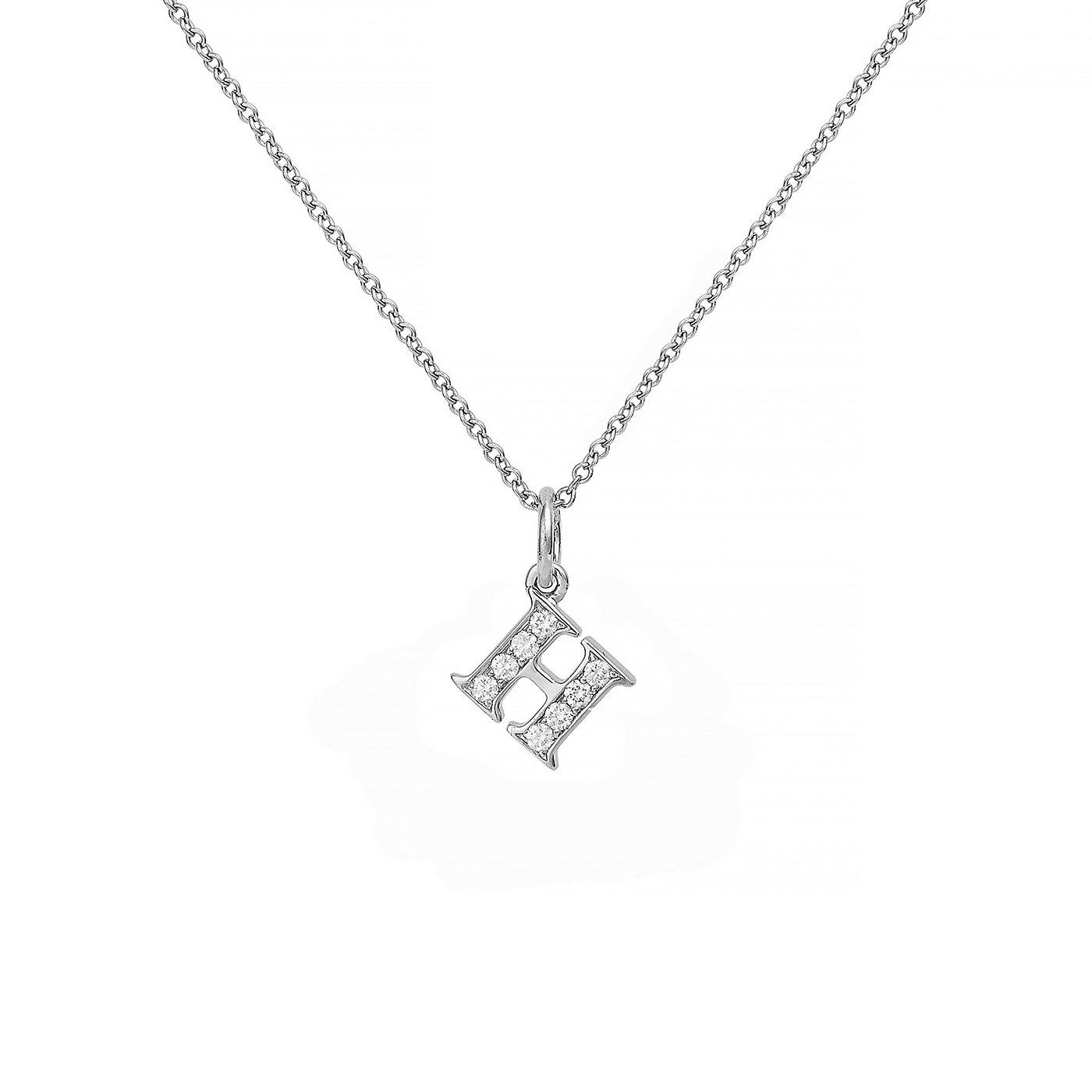 : - Love Letter 18 K vitguld & Diamanter – H