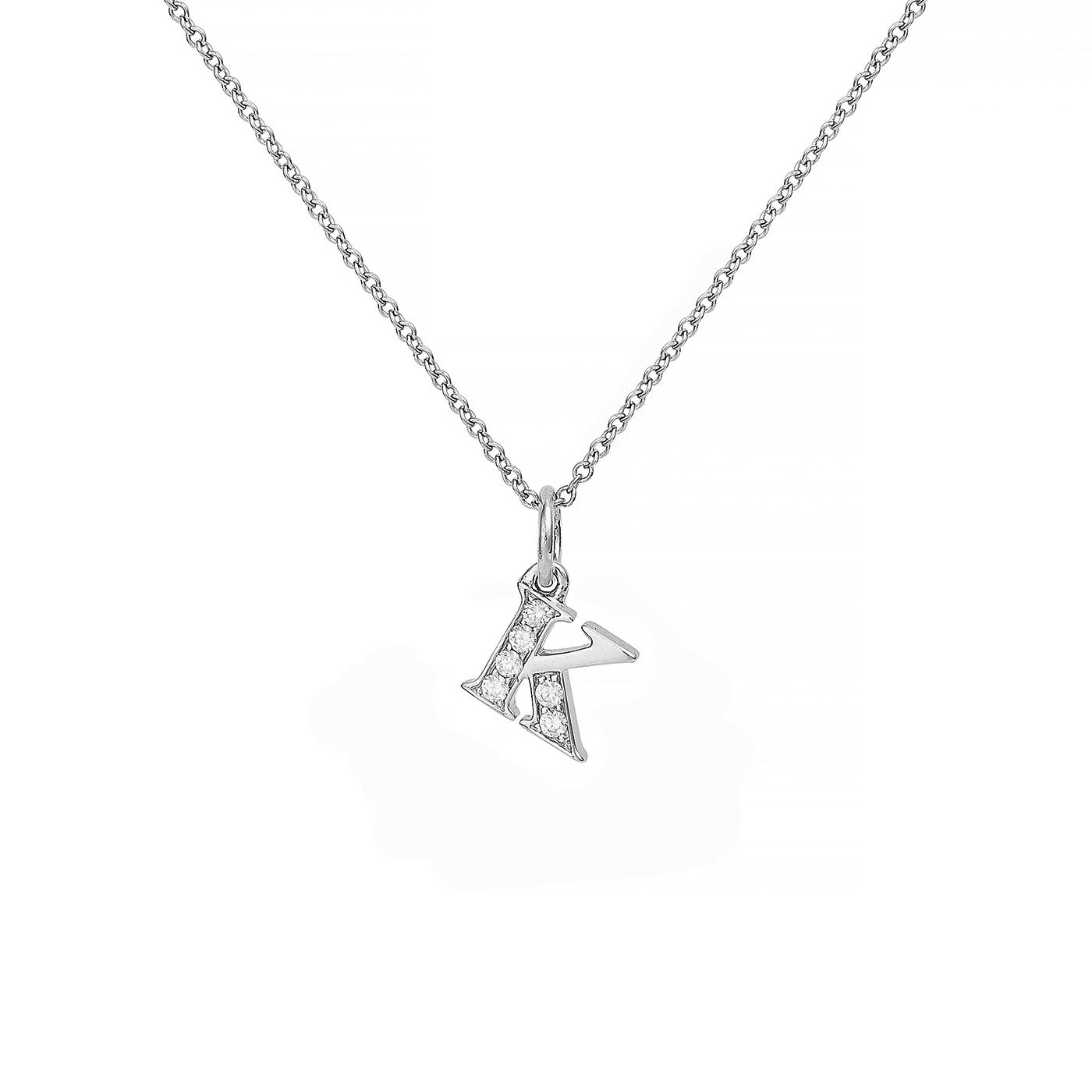 : - Love Letter 18 K vitguld & Diamanter – K