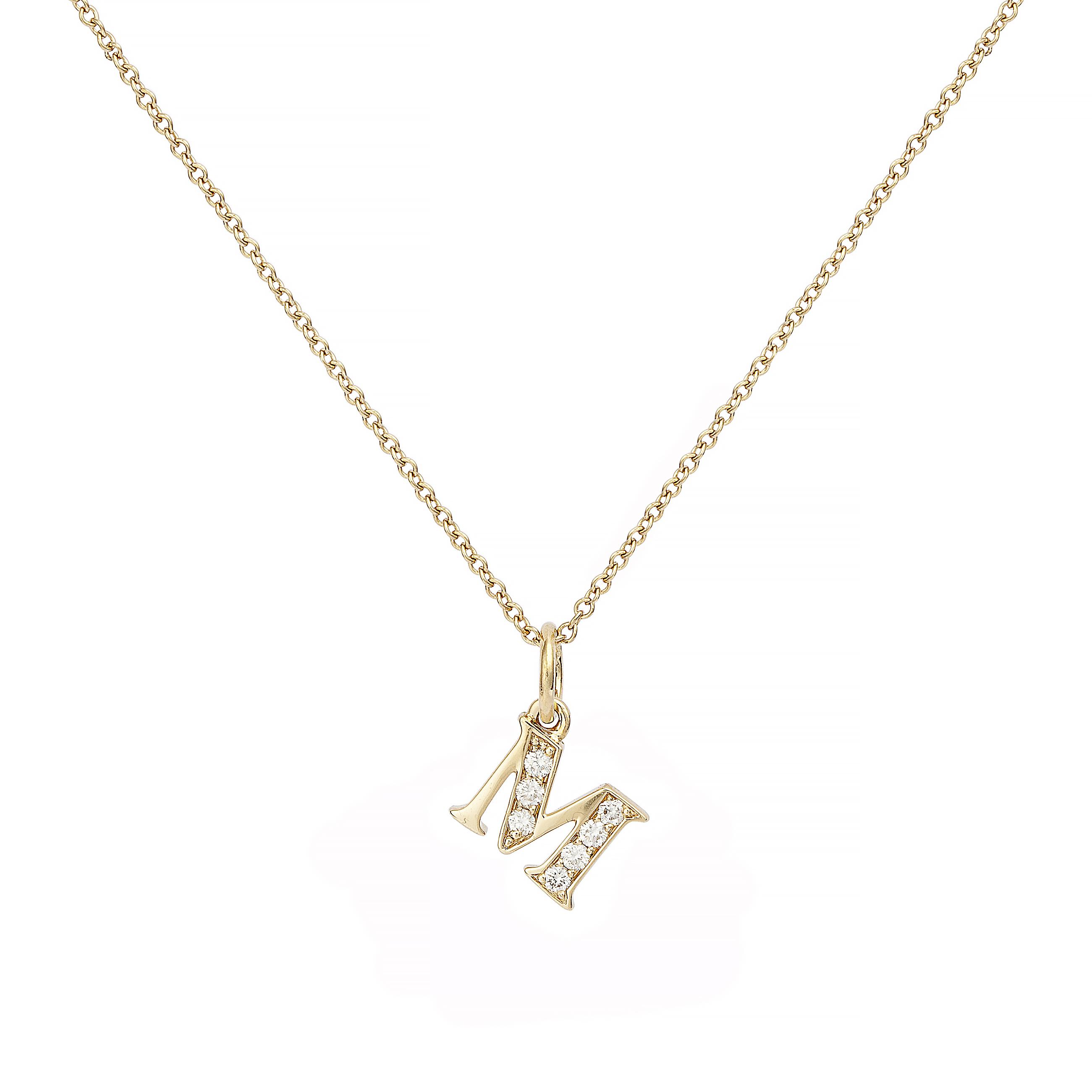 : - Love Letter 18 K guld & Diamanter – M