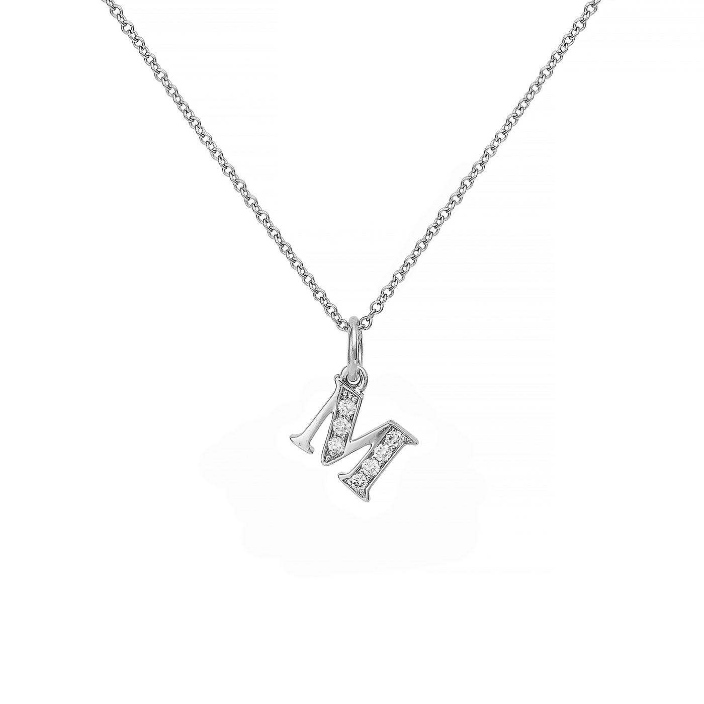 : - Love Letter 18 K vitguld & Diamanter – M