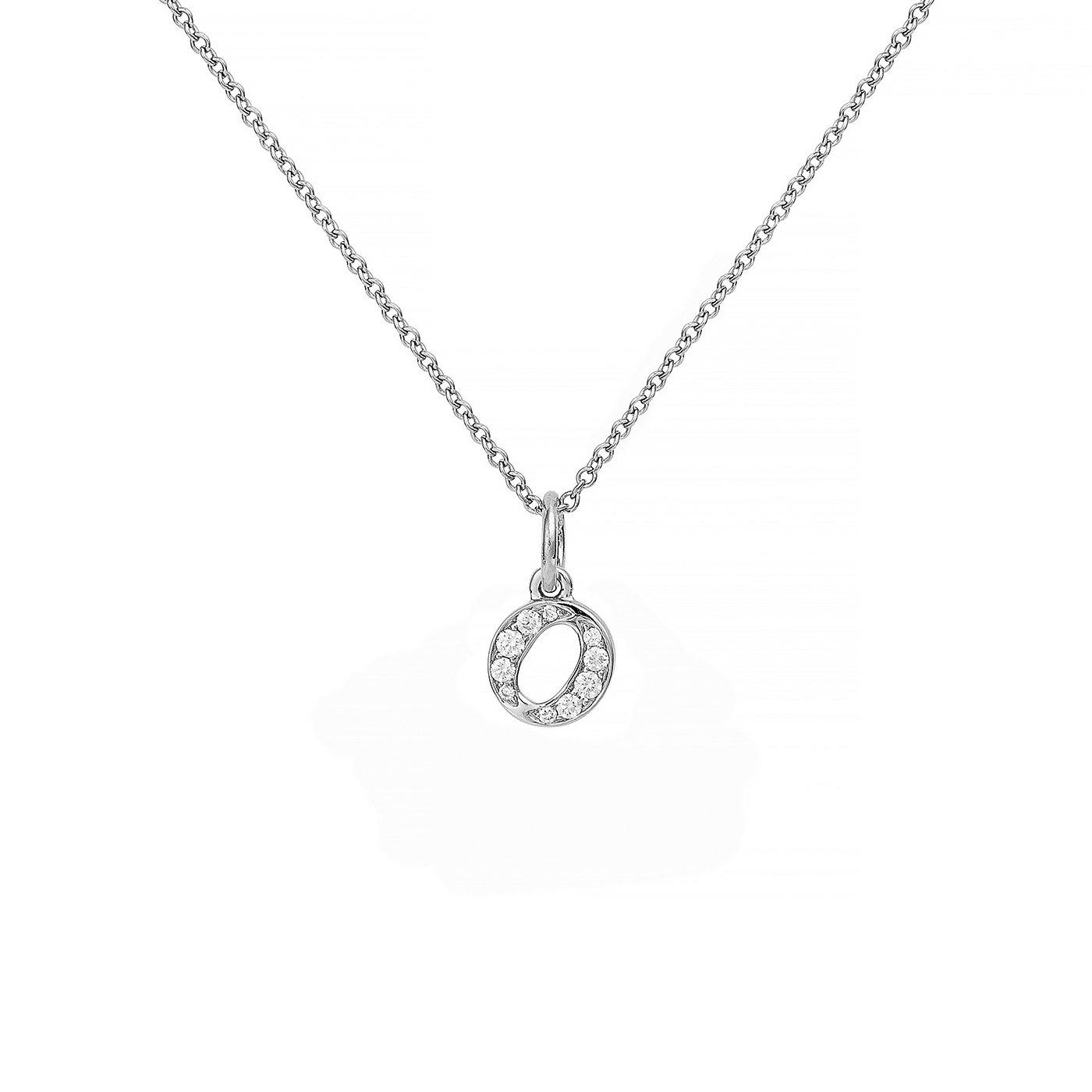 : - Love Letter 18 K vitguld & Diamanter – O