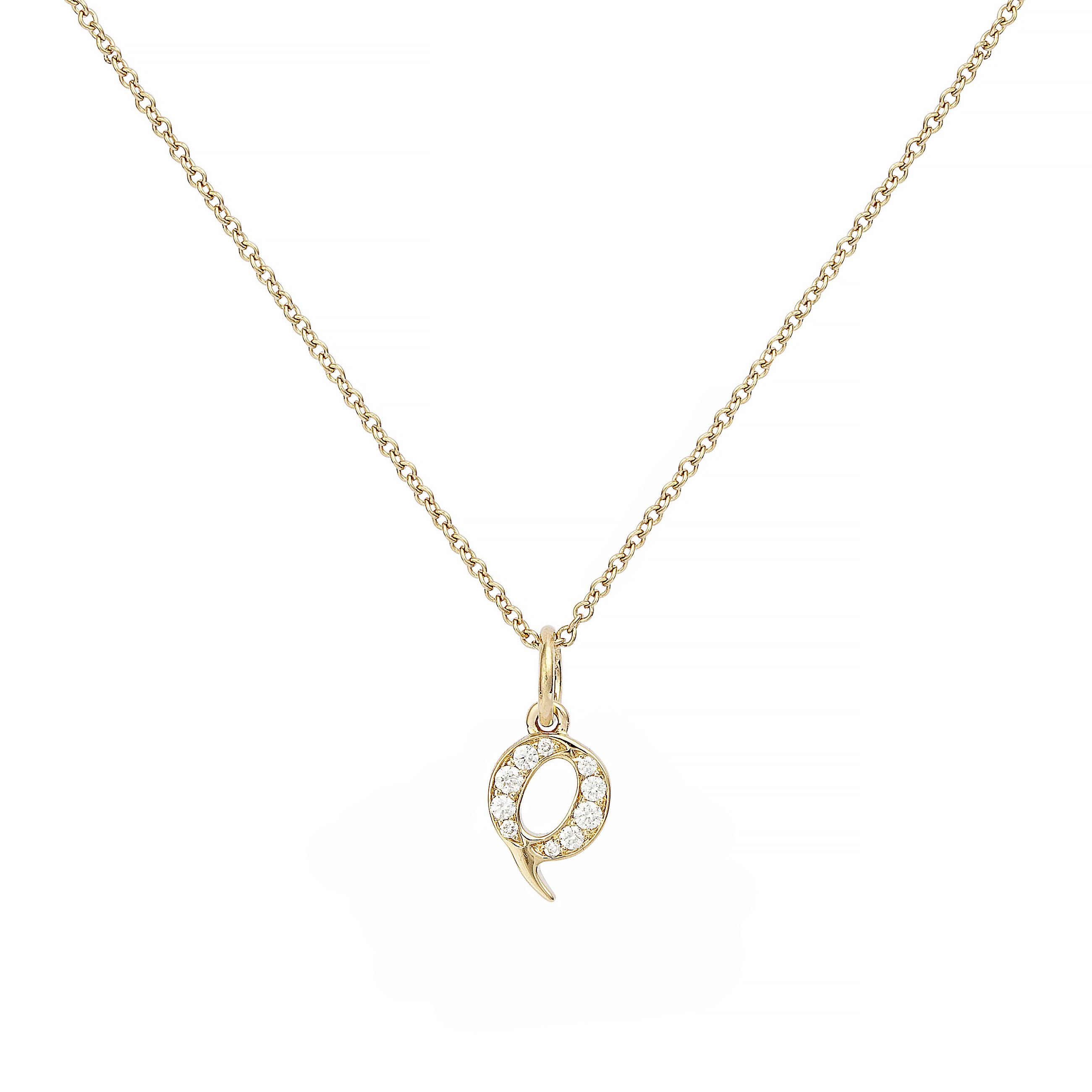 : - Love Letter 18 K guld & Diamanter – Q