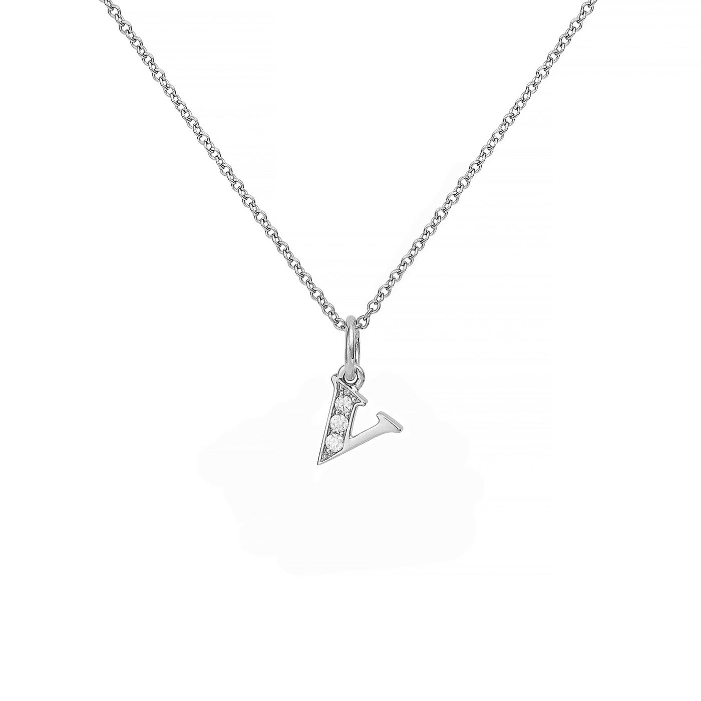 : - Love Letter 18 K vitguld & Diamanter – V