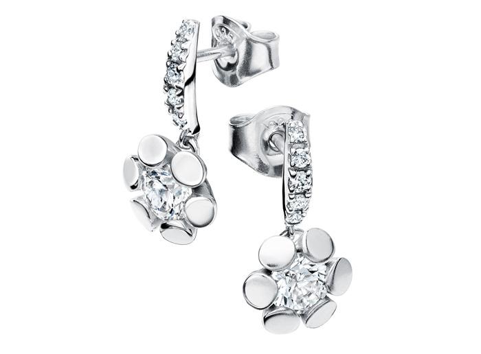 : - Örhängen 18k vitguld Blåklint mg003 0,58 ct diamant