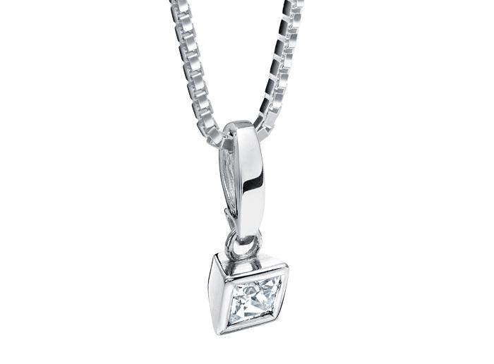 : - Hängsmycke 18k vitguld Nattglim mg018 0,20 ct diamant