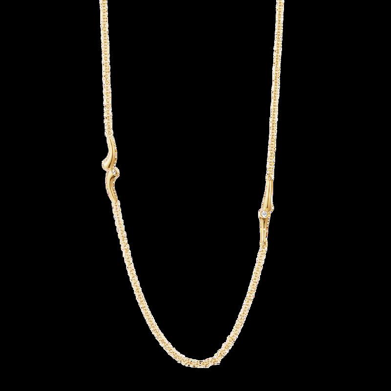 : - Magic Halsband Sautoir 18 K Guld Med 0,28 ct Briljanter