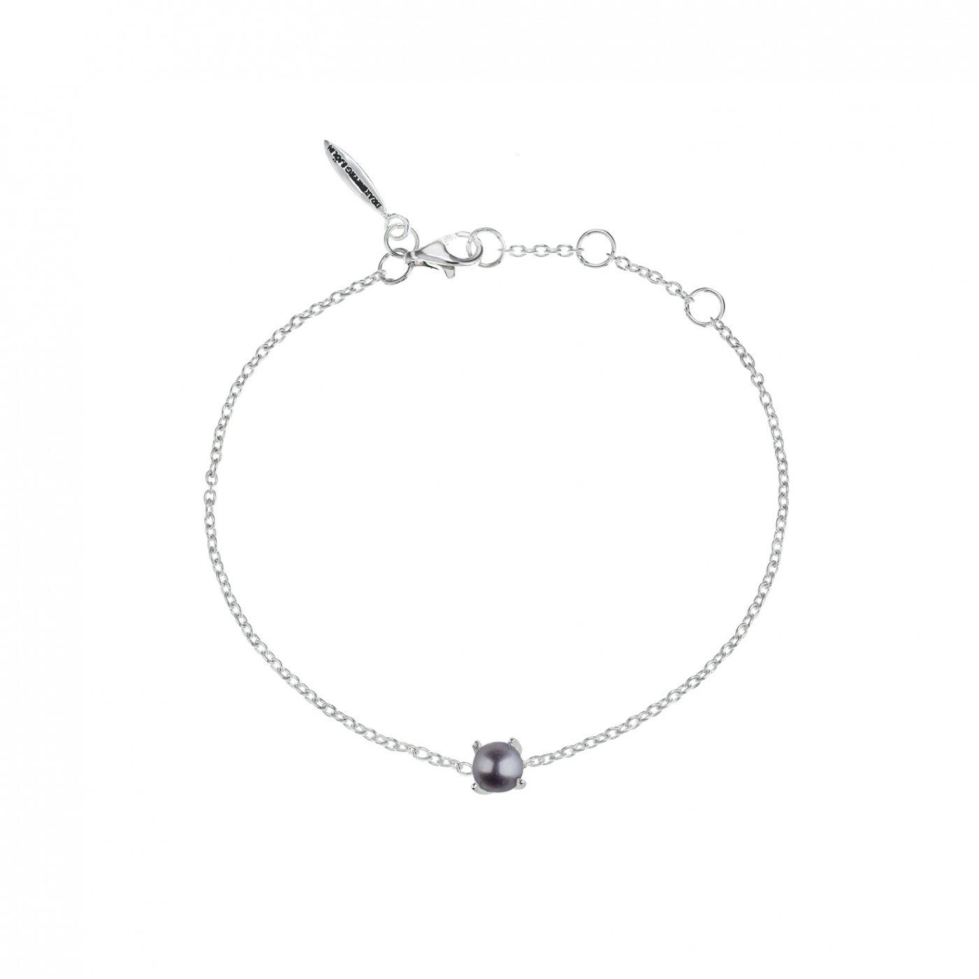 : - Petite pearl midnight bracelet