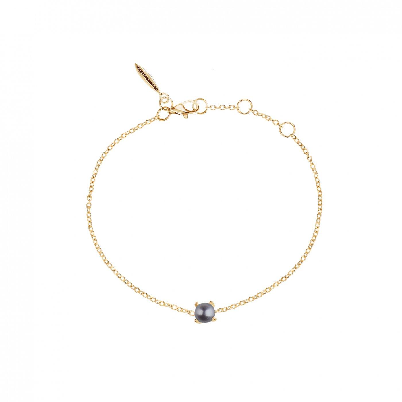 : - Petite pearl midnight bracelet gold