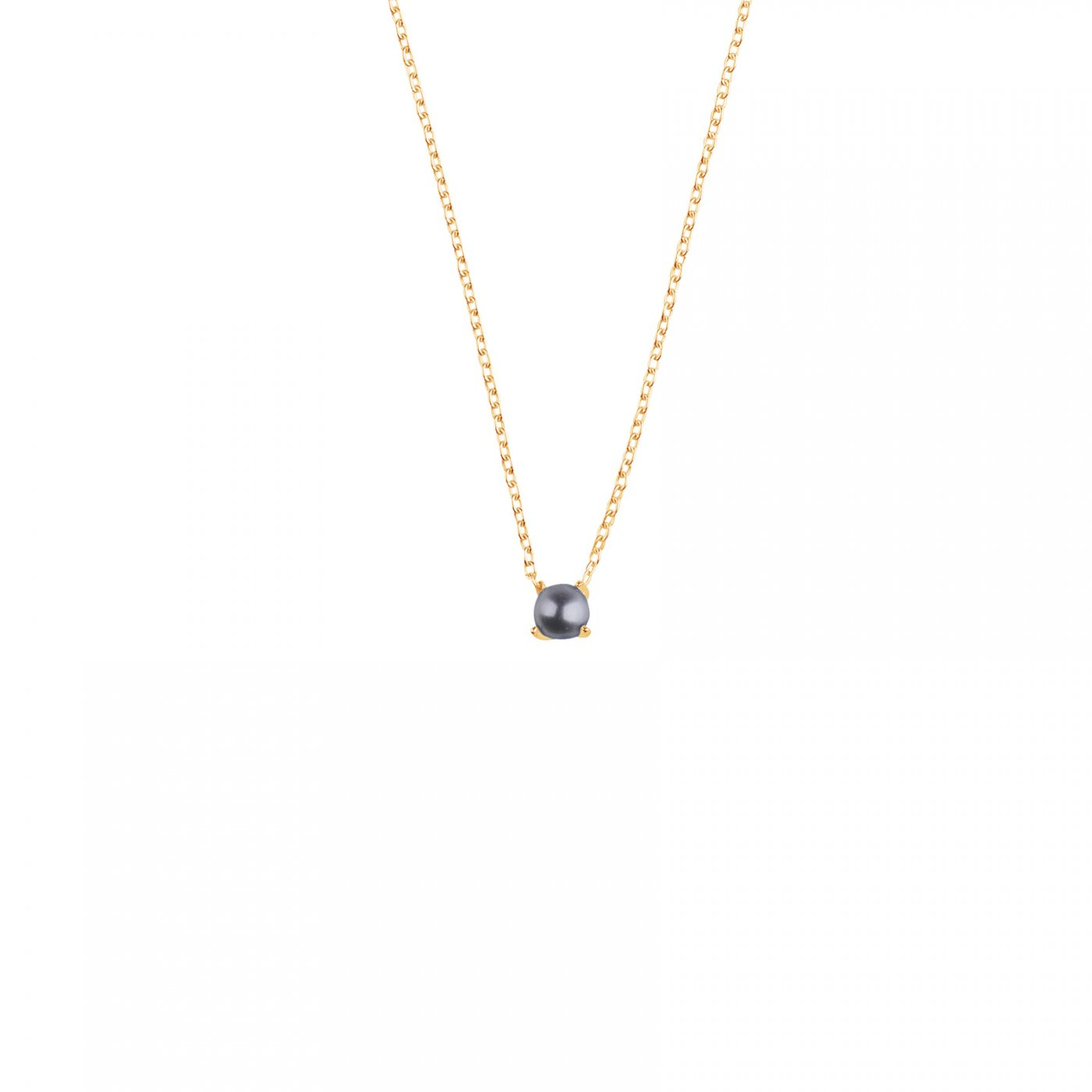 : - Petite pearl midnight necklace gold