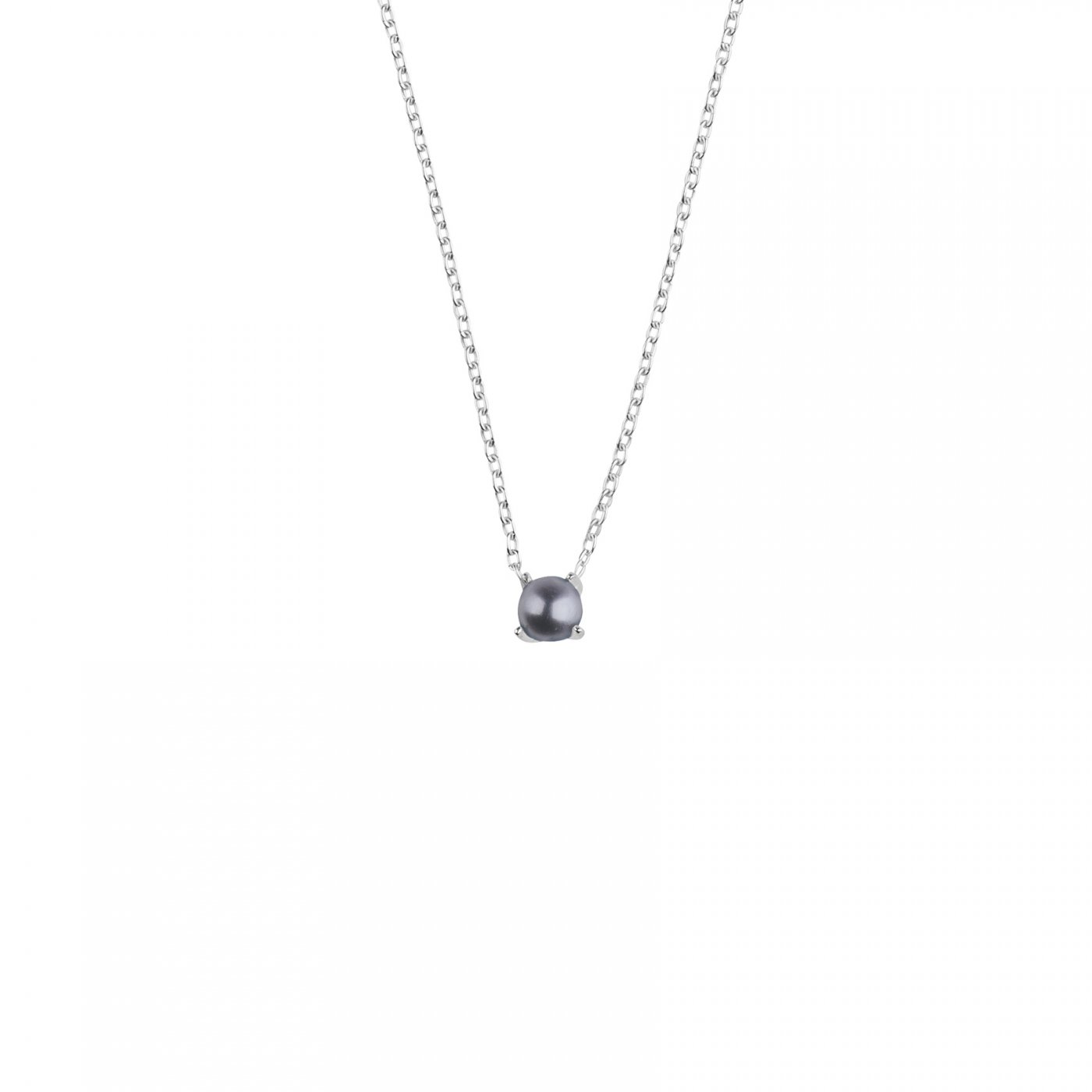 : - Petite pearl midnight necklace